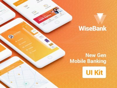 WiseBank iOS UI Kit art direction ux ui casestudy app finance banking mobile