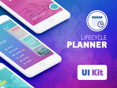 LifeCycle iOS UI Kit art direction ux ui casestudy app planner organizer lifestyle mobile