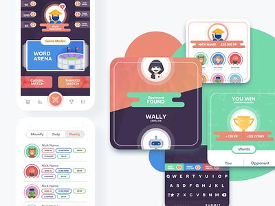 WordWar Game App Design ios app design ios game game app game mobile app design design ux ui