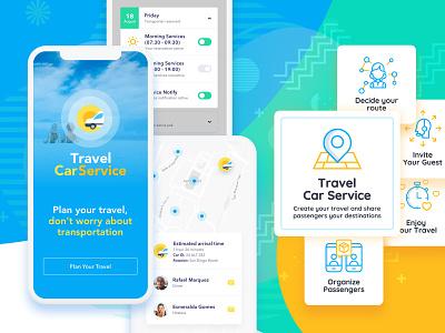 Car Travel Service iphone ios mobile mobile app mobile app design transportation travel vacation still life interface ux ui