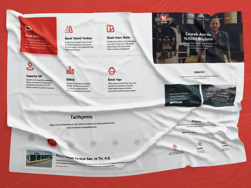 Öztek Textile Website textile fabric web interface website ux ui