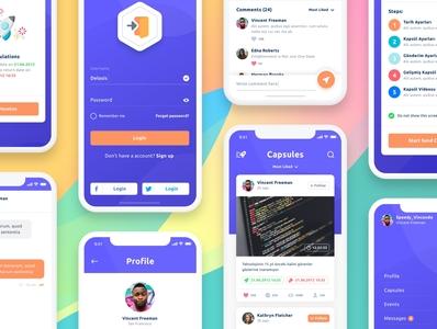 Send Capsule Mobile App app design ios mobile ux ui