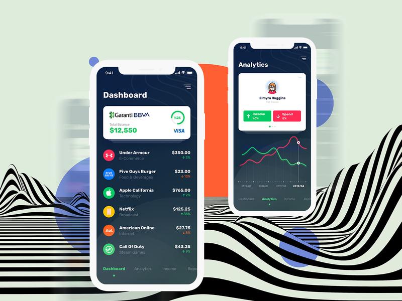 Spending Money Tracking App banking money finance mobile design ux ui