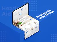 Hearing Aid Website Design web design website ux ui