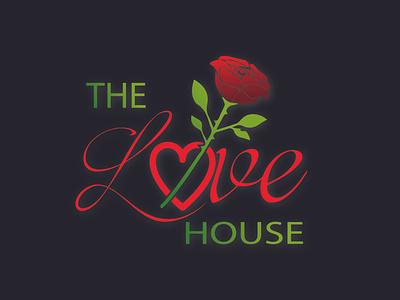 The love house logo designed for client heart care center hospital logo love logo ui illustration design logo typo logo typography icon graphic design vector logo design