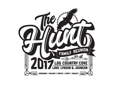 Hunt Family Shirt shirt layout one-color type custom apparel