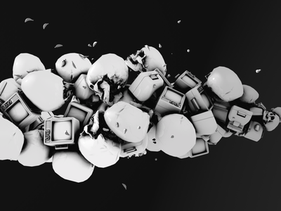 Watch More TV (WIP) dailyrender c4d cinema motiondesign 3d