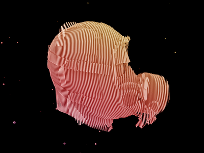 Head Slice Topography topographic aftereffects low-poly 3d c4d cinema4d dailyrender