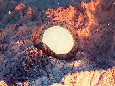Terrain Orb octane c4d 3d art surreal landscape dailyrender