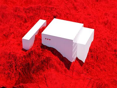 Mars space architecture dailyrender landscape surreal art 3d c4d octane
