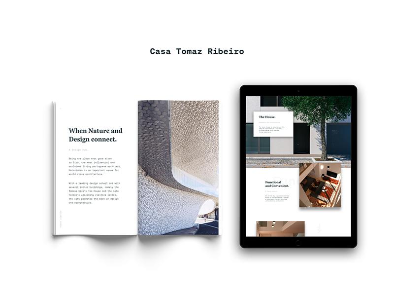 Casa Tomaz Ribeiro print vs digital digital print design editorial design animation web architecture