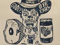 Linoprint - Earl Had to Die