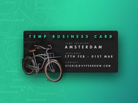 Working out of Amsterdam - Temporary Contact Details