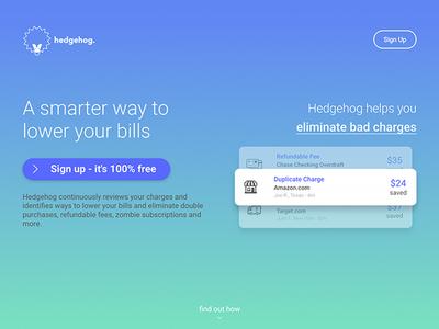 Fintech UI/UX - Landing Page