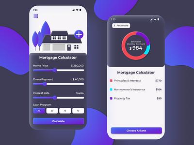 Mortgage Calculator App mobileapp ux ui design