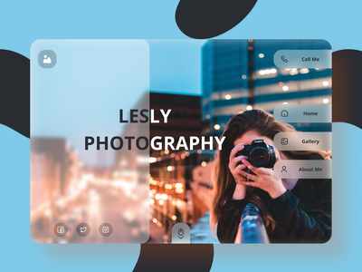 Photographer Portfolio Landing Page web ux ui design