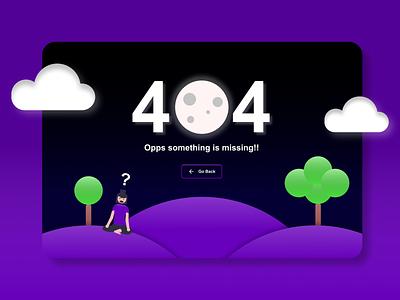 404 Page web ux ui design