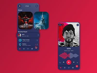 Daily UI #009 - Music App web mobileapp ux ui design