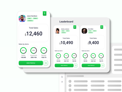 Daily UI #019 - Leaderboard mobileapp web ui ux design