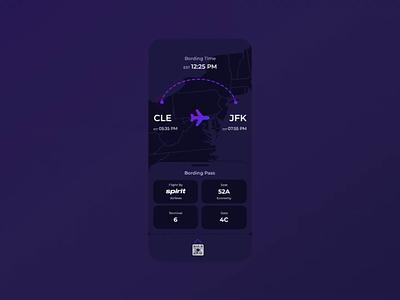 Daily UI #026 - Boarding Pass mobileapp animation web ux ui design