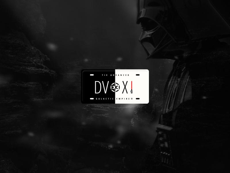 License plate - Star Wars