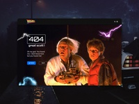 Back to the Future | 404 Page