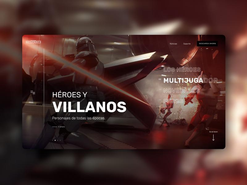 Battlefront™ II - Villanos design game padawan practice web design website battlefront starwars concept ux ui