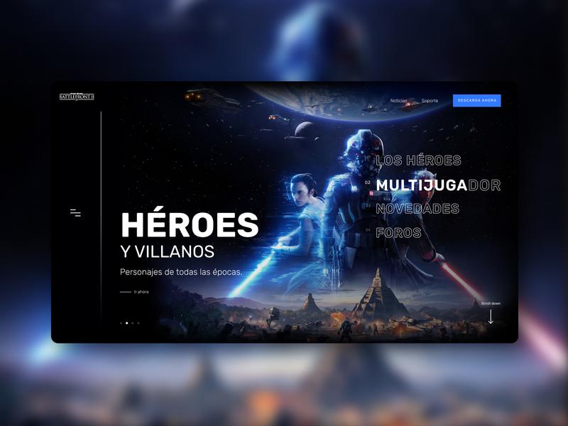 Battlefront™ II - Héroes concept web game battlefront starwars warmup practice hero padawan design web design ux ui