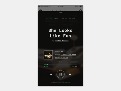 Spotify reconcept player spotify reconcept ui