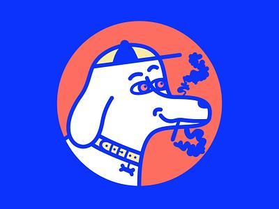 Smoking dog illustration cool smoke vector dog