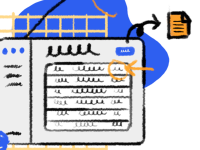 Interconnected illustration rebound data connexion