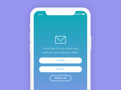 Stay Updated signup mobile ui ux emailsignup signupform day001 dailyui