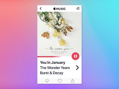 Hey Listen applemusic app wonderyears music apple 009 day009 dailyui