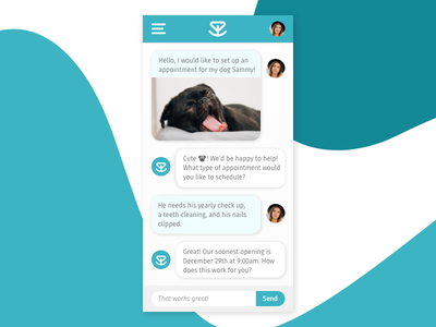 Puppy Chat mobile chat livechat day013 dailyui