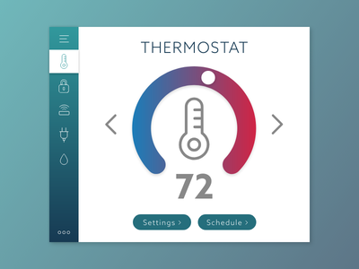 Smart House dashboard thermostat homemonitoring day021 dailyui