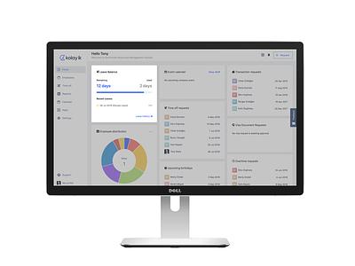 Leave balance widget for Kolay's dashboard hr desktop app dashboard ux ux design uiux ui ui design