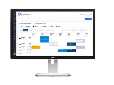 Updated design for Kolay's Shift Management hr ux design ui design desktop app planning shift scheduling hr software software saas