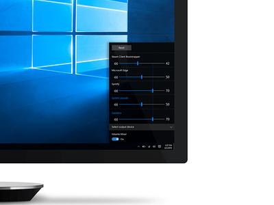 Design concept for Windows 10 audio controls audio ui design concept microsoft windows windows 10