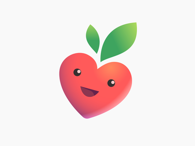 Propitanie products environmentally distributor food baby delivery vector strawberry icon illustration branding store shop eating logo design