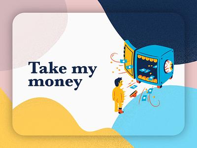 Take My Money! card design illustration ui design adobe xd