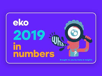 Few slides of eko's 2019 in numbers document wrapped deck design deck 2019 ui illustration choice driven entertainment card design ui design