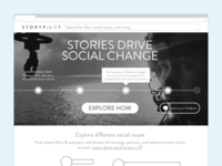 StoryPilot Homepage Wireframe