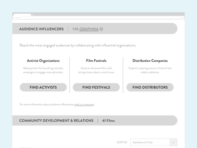 StoryPilot Social Issue Audience Wireframe states module exploration discovery