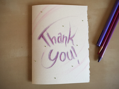 Thank You! card thanks thank you
