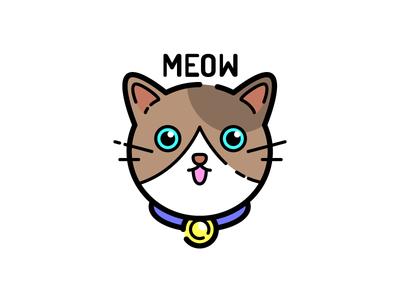 Cat Sticker kitten cute meow sticker cat
