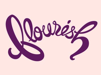 Flourish cursive lettering flourish