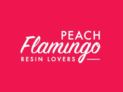 Peach Flamingo type typography lettering retro