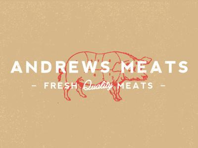 Andrews Meats typography type