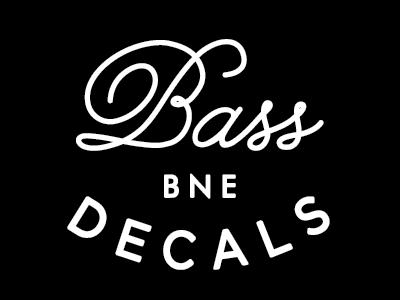 Bass Decals type