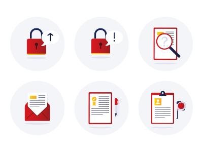 Portal illustrations ui design warranty mail results search no password illustrations